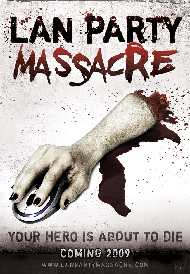 teaser poster LAN  Party Massacre Website, Trailer